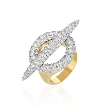 Gumuchian Anitia G 18k Two Tone Gold Toggle Diamond Ring