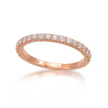 Epoque 14k Rose Gold Diamond Eternity Band