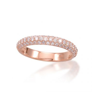 Epoque 14k Rose Gold Diamond Pave Wedding Band