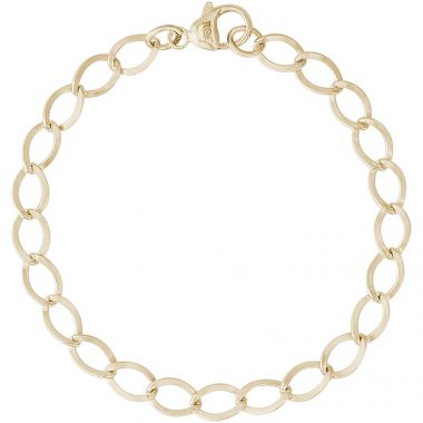 14k Gold 7 Inch Charm Bracelet