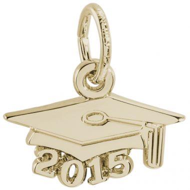 14k Gold Grsd Cap 2015  Charm